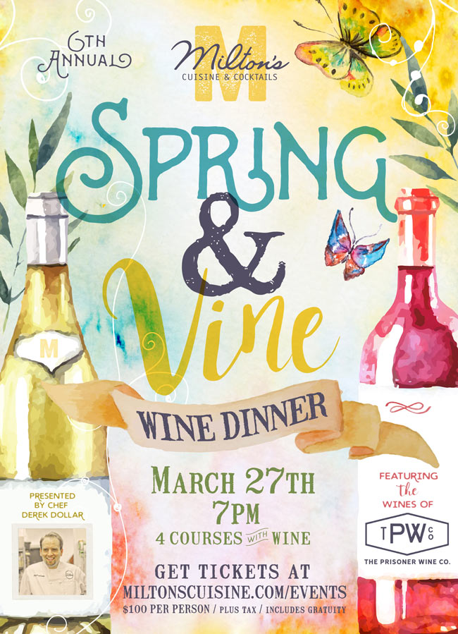 Spring and Vine dinner annoucement
