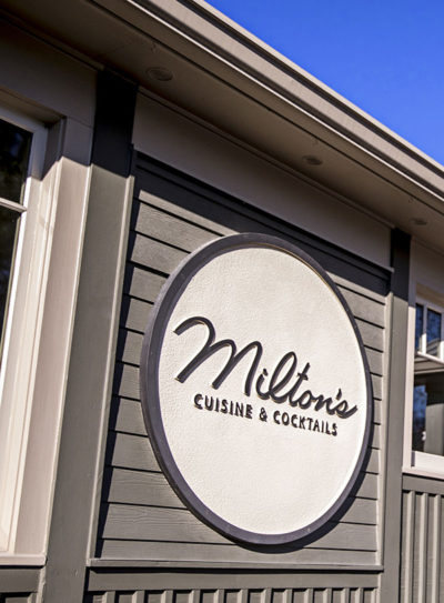 Exterior of Milton's Restaurant